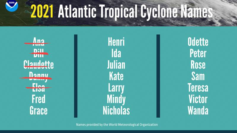 The National Oceanic and Atmospheric Administration is now forecasting 15 to 21 named storms...