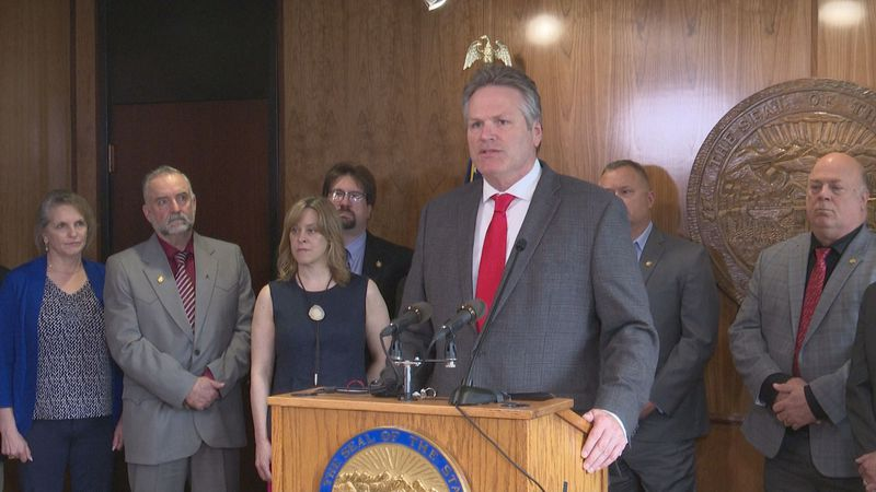With one week left until the regular session ends, Gov. Mike Dunleavy unveiled a proposal to...