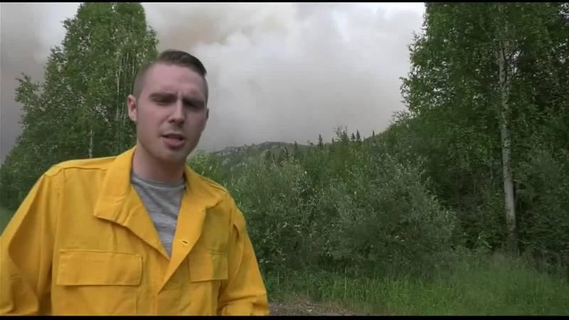 John Dougherty at the Munson creek fire.
