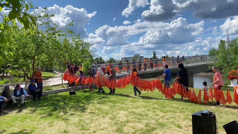 Alaskan Native community members held a vigil to honor the memory of both the 215 indigenous...