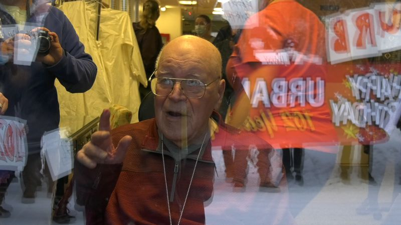 Fairbanks legend Urban Rahoi dies at 102. He is seen in this photo at his surprise birthday...