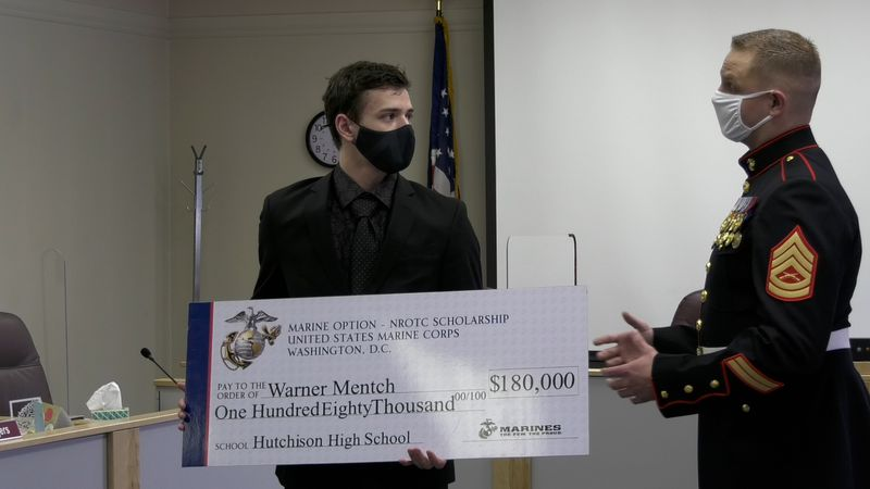 Warner Mentch, a Hutchison High School student, won a $180,000 scholarship to the college of...