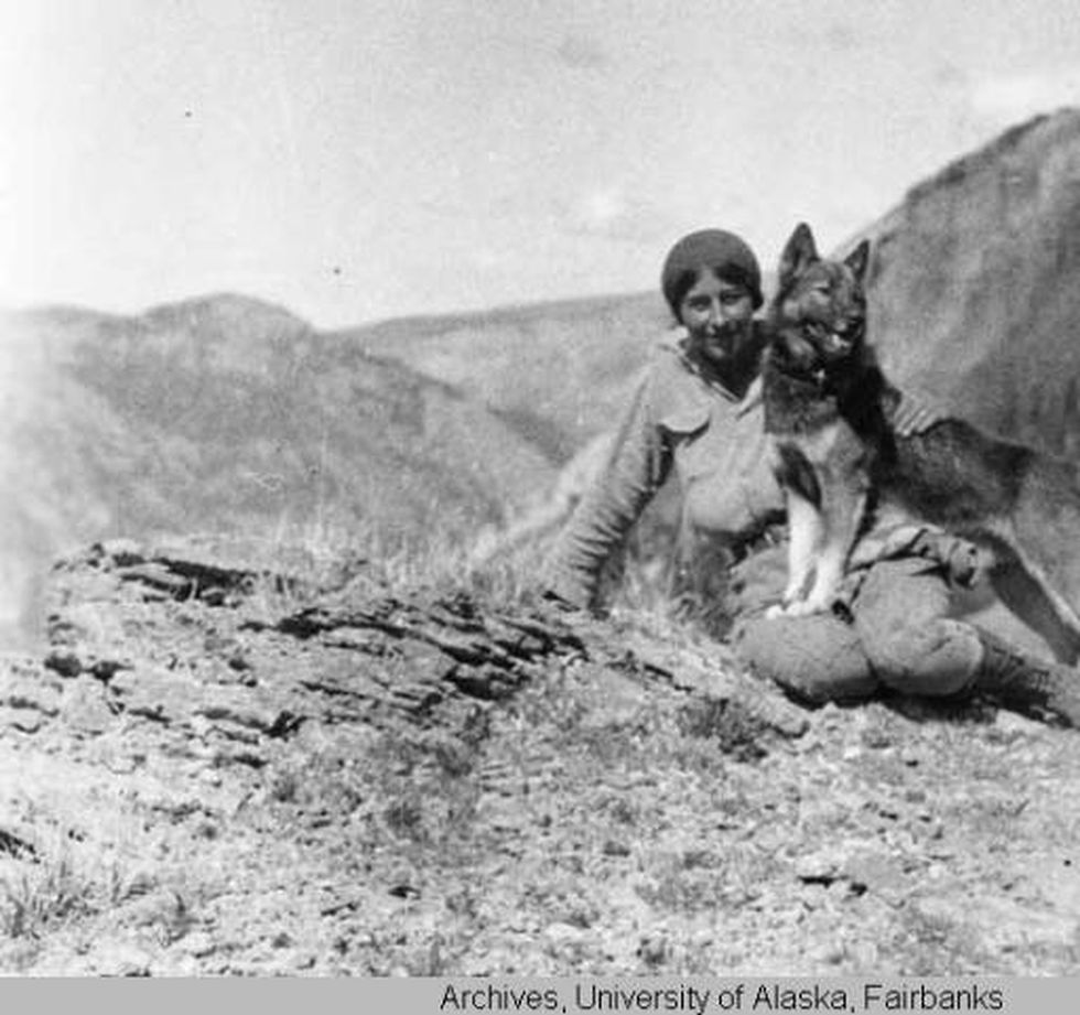 Margaret Murie with her dog in an undated photo.