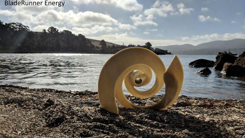 BladeRunner Energy Hydrokinetic turbine on the shore