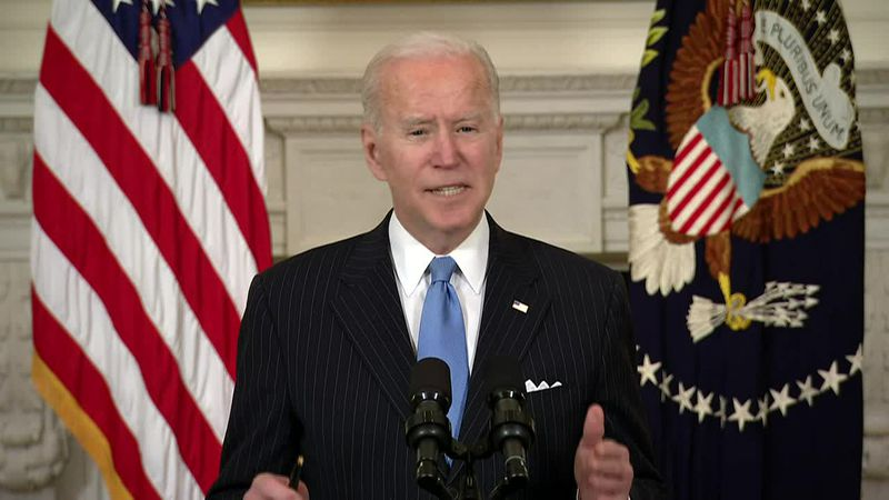 President Joe Biden said the U.S. would have enough supply of the COVID-19 vaccine for every...