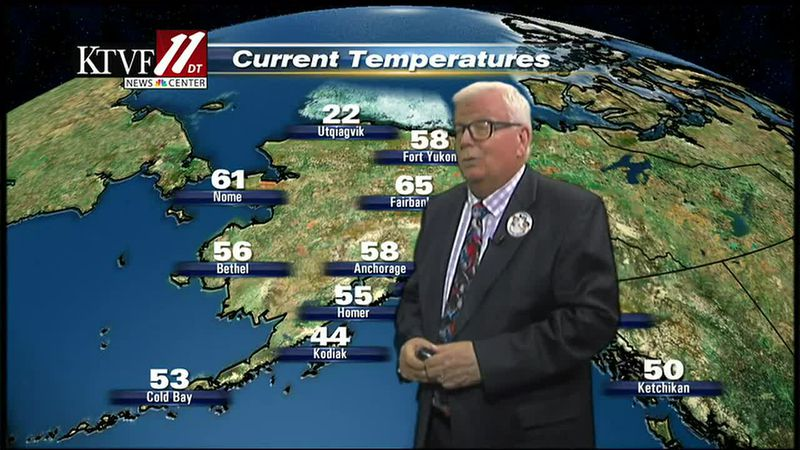 Weather with Mike Shultz on the Fairbanks Evening News.