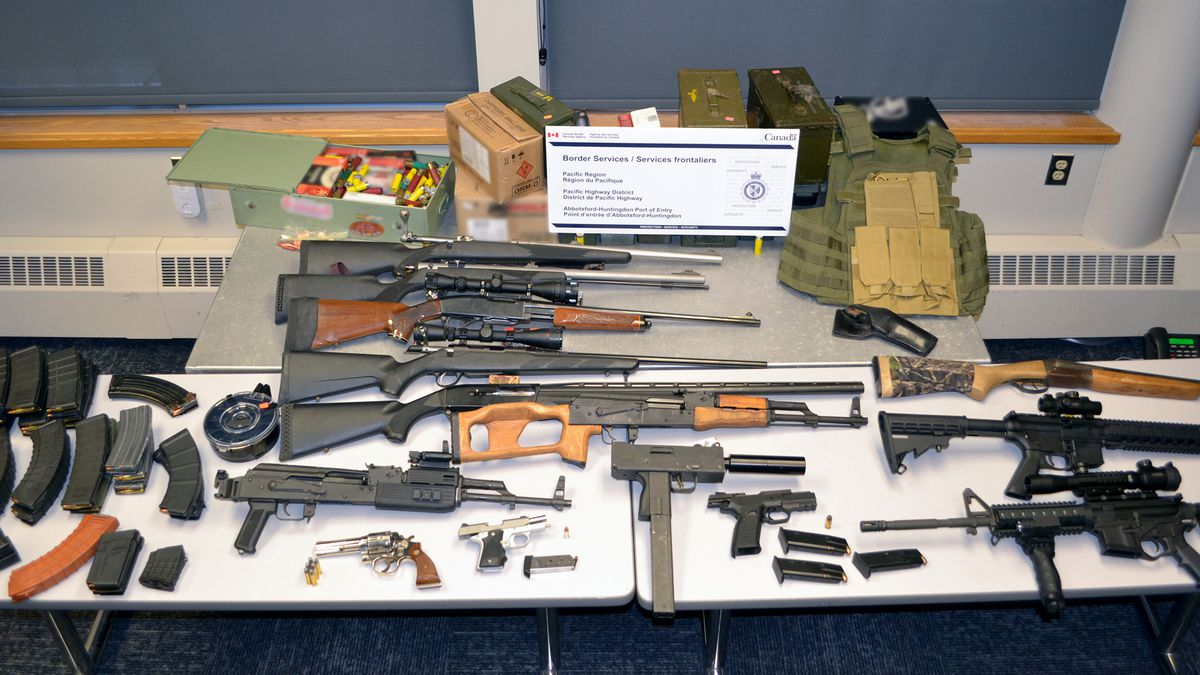 Corey Scott Kettering, 33, of Alaska attempted to bring 14 firearms over the border into Canada...