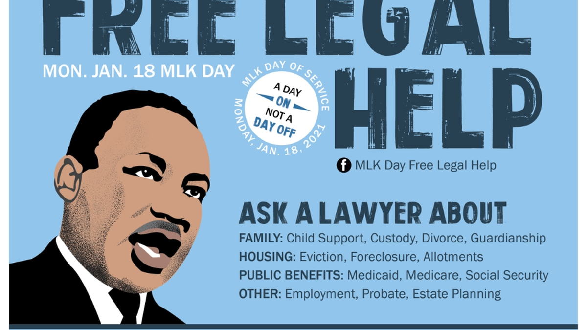The 12th annual Martin Luther King Jr. Day free legal clinic is going virtual because of...