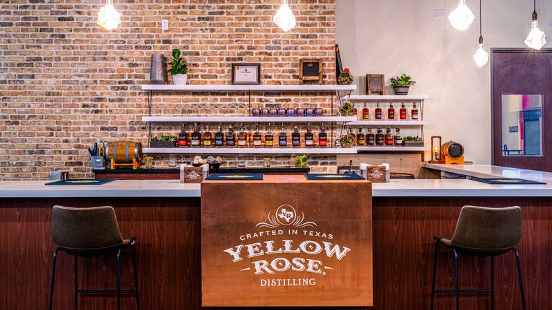 Visitors to Houston's Yellow Rose distillery can sample and purchase a selection of Yellow...