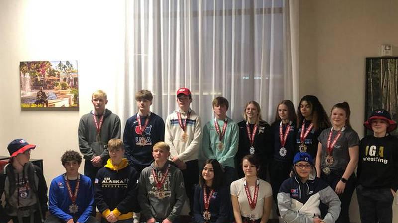 The Interior Grappling Academy from Fairbanks, Alaska scored 13 medals in Farmington, Utah for...