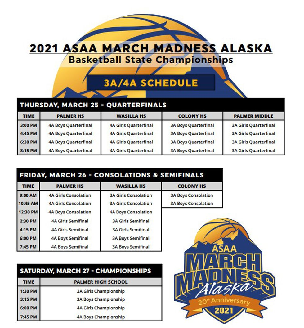 The 3A and 4A state basketball tournaments are set to take place at various schools from March...