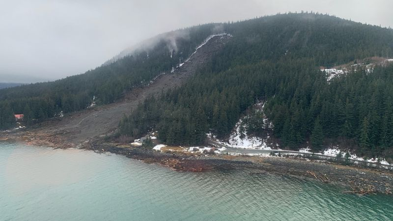 Search and rescue is looking for several missing people after a large landslide in Haines.