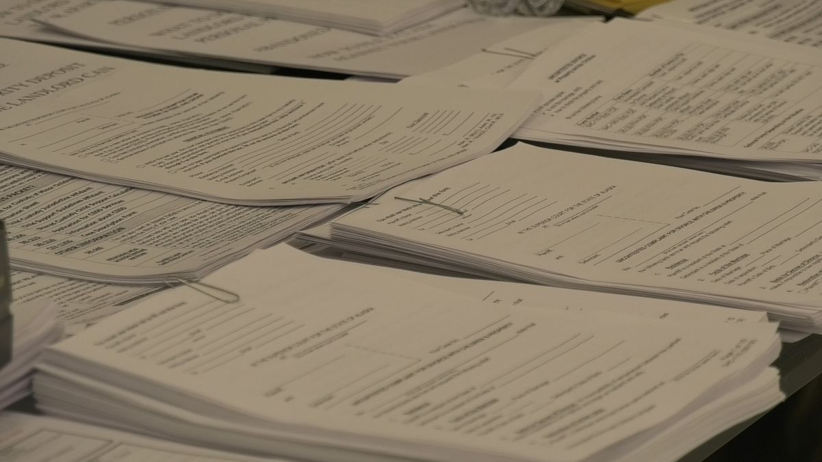 Legal documents seen at a free legal clinic held on Martin Luther King Jr. Day. (John Dougherty/KTVF)