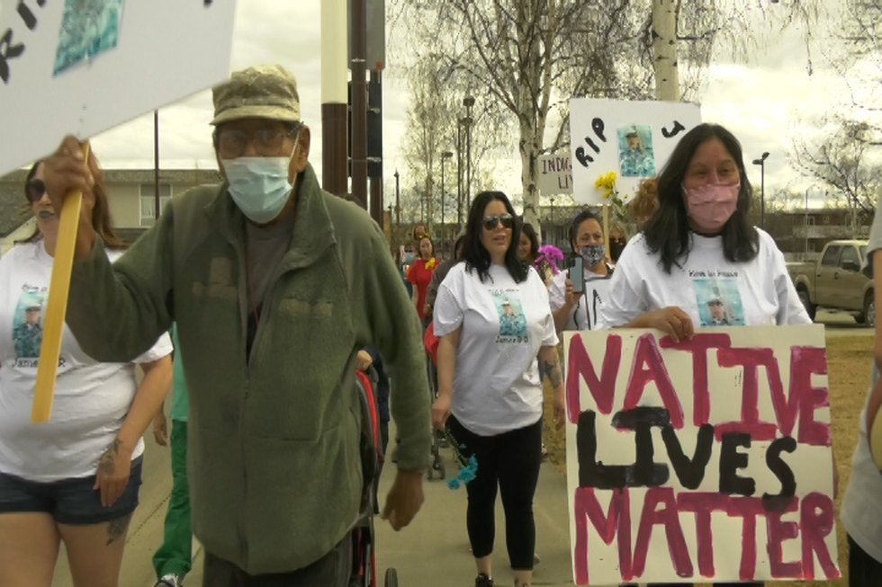 Interior residents rallied against police brutality Saturday afternoon near the Fairbanks...