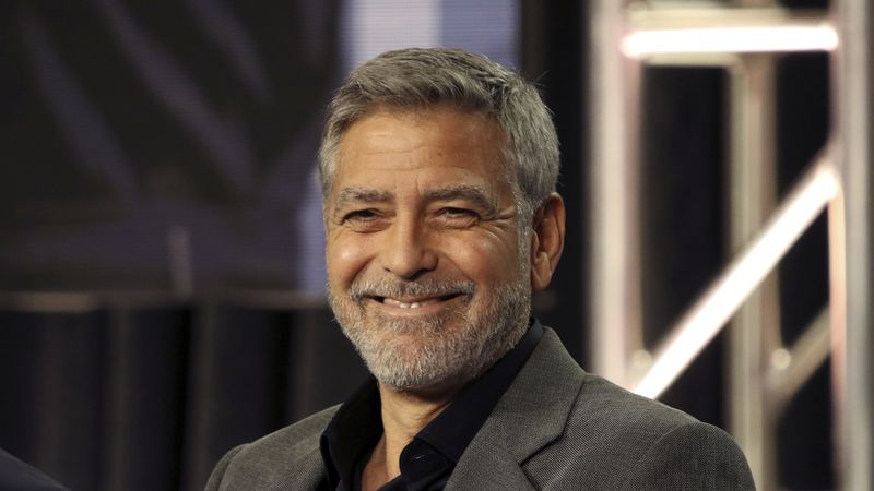 "In this Feb. 11, 2019 file photo, George Clooney participates in the ""Catch-22"" panel during..."