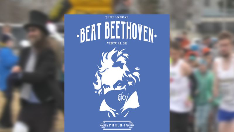 The 27th annual Beat Beethoven 5K is virtual this year, running from April 9-18.