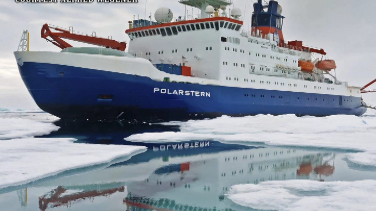 The MOSiAC ship 'Polarstern' launched September 20th in Norway and plans to keep their ship ice locked in the frozen sea for a year. Scientists from 19 different countries have teamed up to figure out why the Arctic is warming faster than any other region on the planet by capturing data of samples of the area. (Courtesy Alfred Wegener)