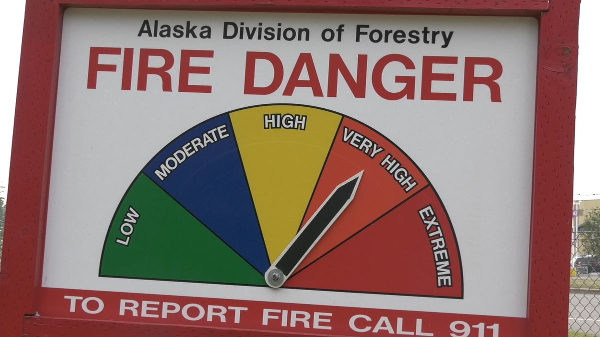 Hot and dry weather has left the fire danger high for much of Alaska. Officials are...