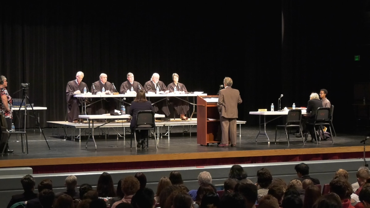 The opportunity came from the Supreme Court Live program, in the state, that brings the...