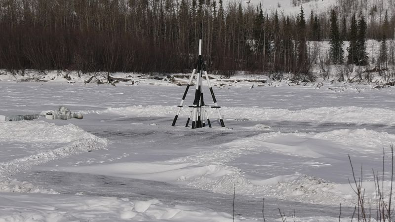 On Sunday, March 7th, the Nenana Ice Classic tripod was laid on the Tanana River setting its...