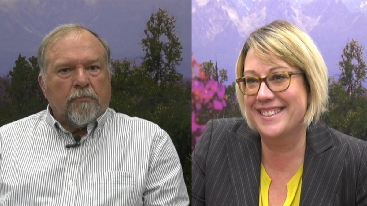 Two candidates, Mindy O'Neall (right) and Jeff Rentzel (left), are running for Borough Assembly Seat C in the upcoming municipal election on October 1st. (Sara Tewksbury/KTVF)