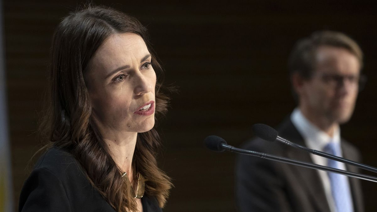 FILE - Prime Minister Jacinda Ardern speaks during a post-Cabinet press conference with...