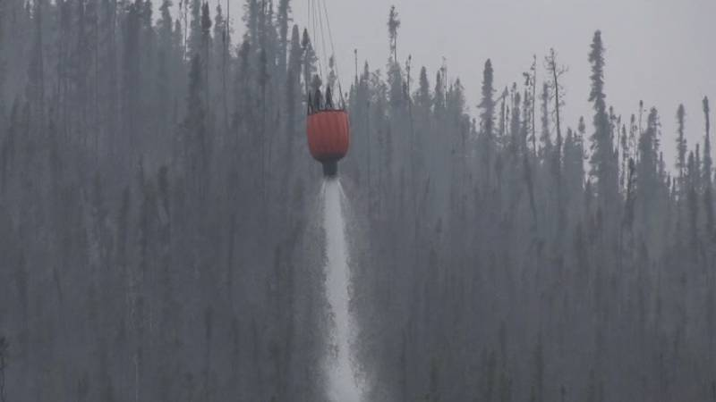 The Munson Creek Fire near Chena Hot Springs has seen increased activity due to recent weather...