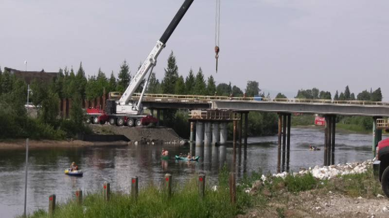 On Friday, July 2, girders were added to the Wendell Street Bridge replacement, which spans the...