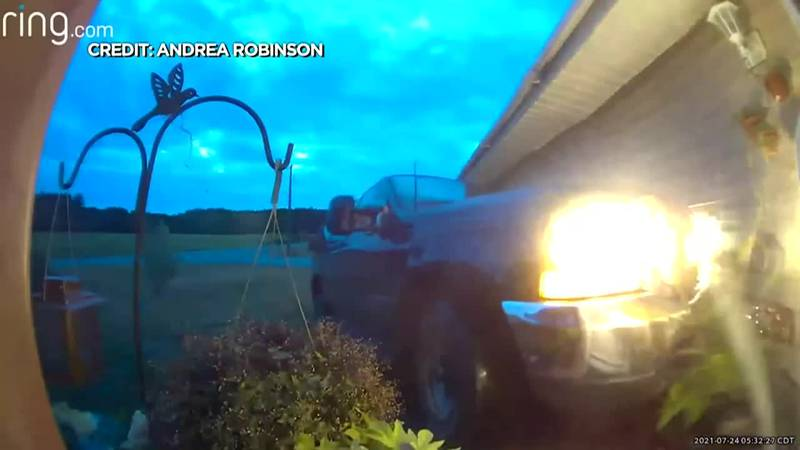 An accused stalker crashed a stolen SUV into the victim's home.