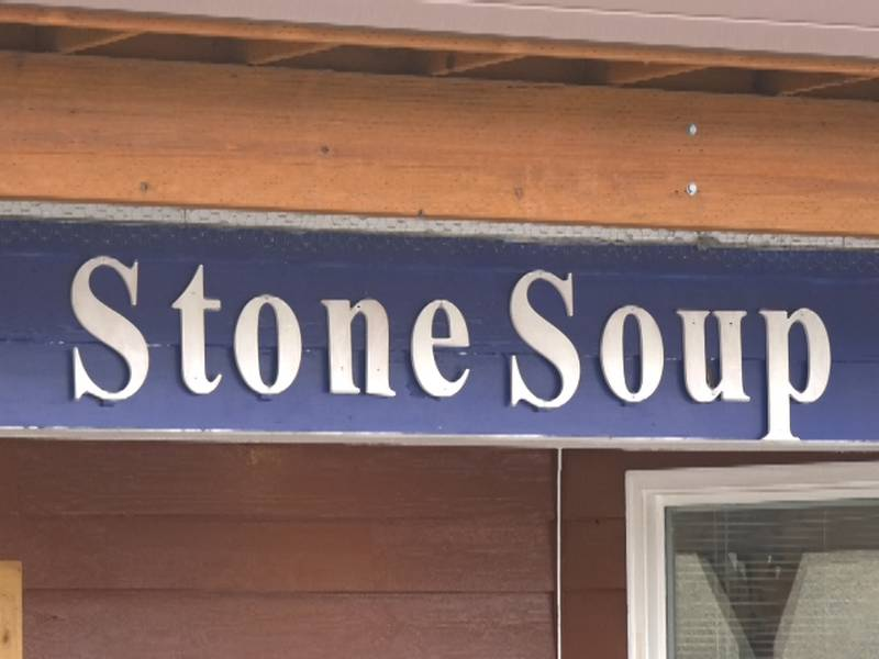 Stone Soup Café serves a free hot breakfast and sack lunch every weekday to anyone in need...