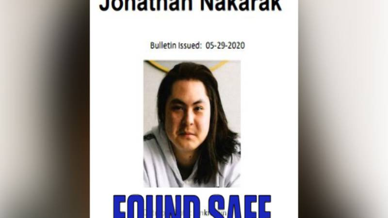 Jonathan Nakarak was found safe in Salcha on Wednesday, January 27th, after an anonymous...