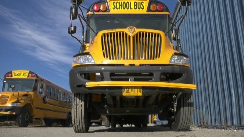 School Bus in Fairbanks, Alaska.