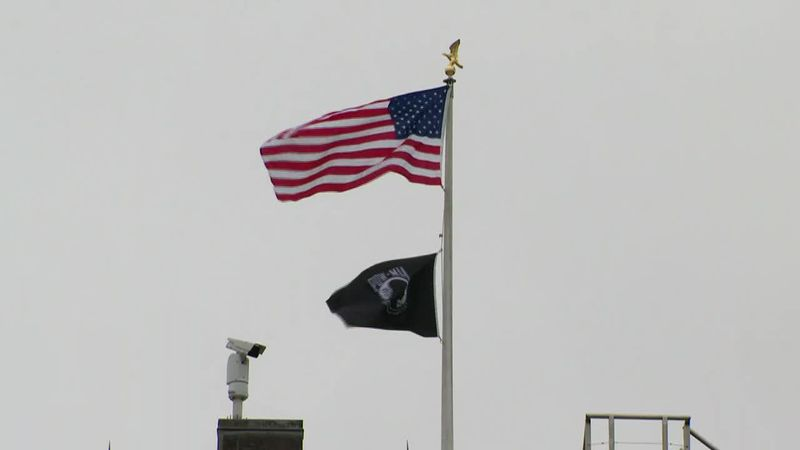White House restores POW/MIA flag to its former home atop the president's home.