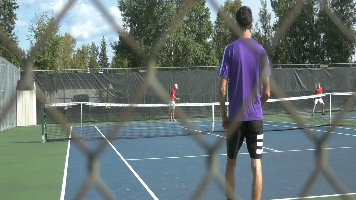 Lathrop faces West valley at the Dan Ramras Courts.