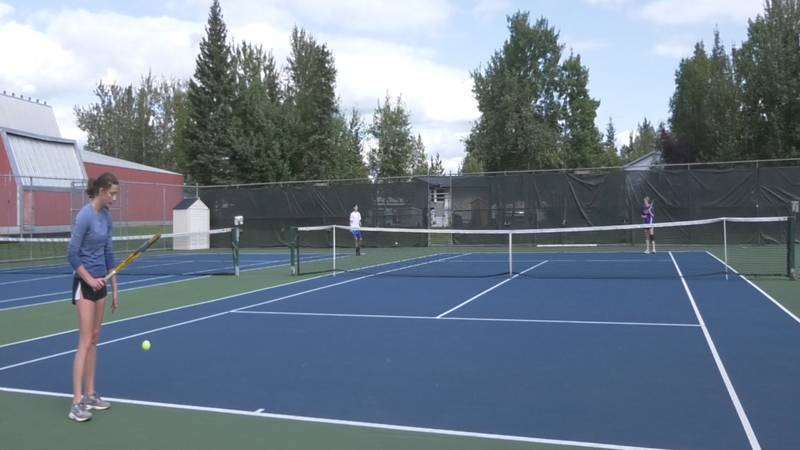 Lathrop and Monroe squared-off at the Dan Ramras Community Tennis Courts Wednesday to open the...