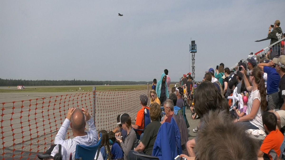 Eielson Air Force Base held the first airshow on base in more than a decade, doubling the number of attendees from the airshow in 2008.