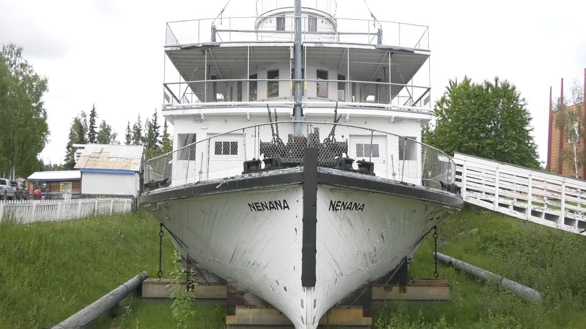 The S.S. Nenana at Pioneer Park. (Aaron Walling/KTVF)