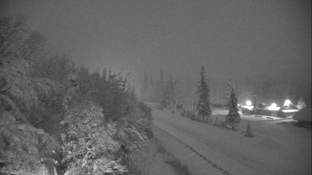 This photo shows conditions at 5 p.m. of approximately Mile 46 of the Seward Highway on Dec....