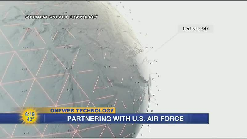 OneWeb using low earth orbit satellite system to help aid U.S. Air Force project.