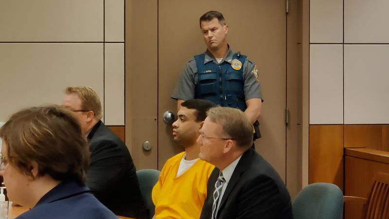 Ryder Smith listens in court as Judge Brent Bennett announces he is guilty of second degree...