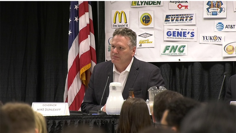 Alaska Governor Mike Dunleavy during a visit to Fairbanks.