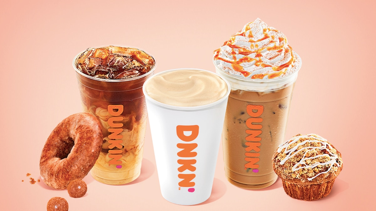 Dunkin' is bringing back its fall-inspired menu on Aug. 19.