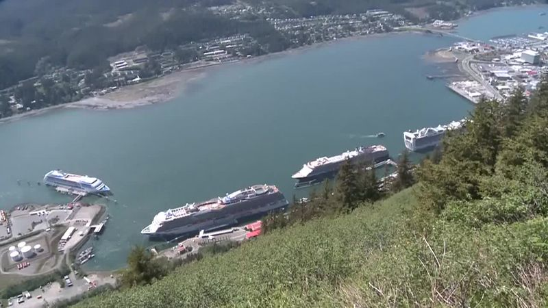 Ships docked in Juneau