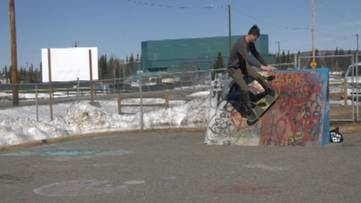 Skaters enjoy the the John Weaver Memorial Skatepark on Saturday afternoon.