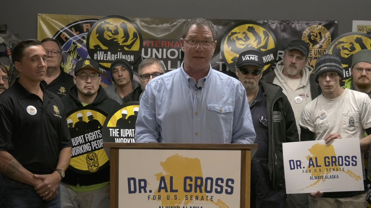 U.S. Candidate Dr. Al Gross held a press conference at the International Union of Painters and...