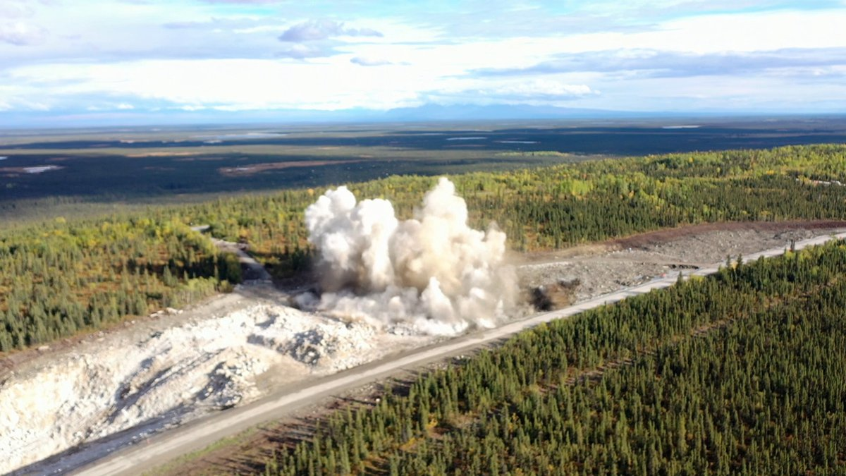 The Alaska Department of Transportation used explosives last year to blast a portion of the...