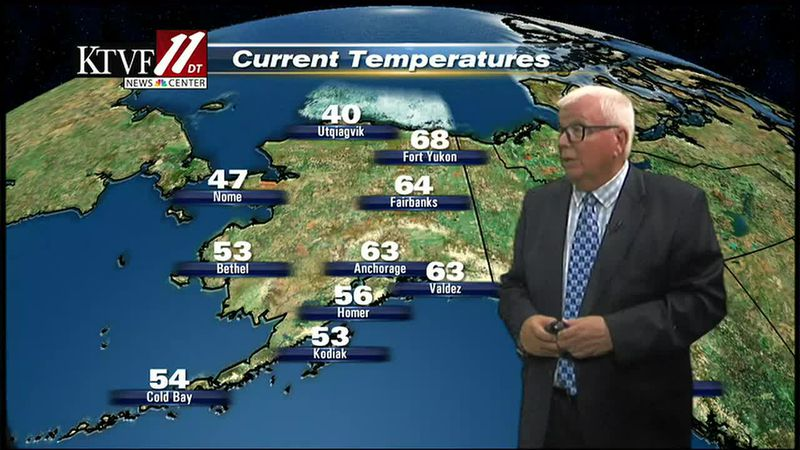 Weather with Mike Shultz with Fairbanks Evening News.