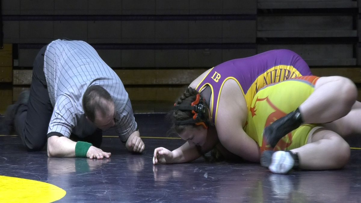 Lathrop defeated West Valley on the opening day of high school wrestling in Fairbanks.