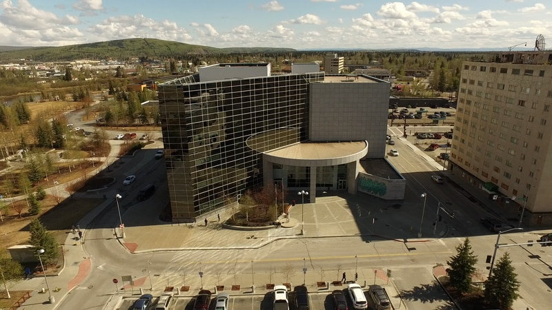Aerial view of the Fairbanks Court House
