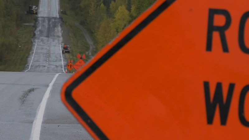 Road work signs are a common sight during Fairbanks summers. The DOT says that maintenance...